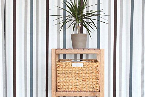 INWONA IKEA Molger Regal Korb 30 x 21 x 37 cm aus Wasserhyazinthe Natur Faltkorb Flechtkorb Regalbox Storage Box Aufbewahrungskorb Schrankkorb klappbar faltbar und sehr stabil 4er-Set Sparpreis - 2