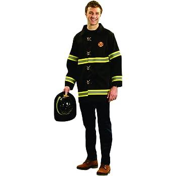 Fiori Paolo- Pompiere Costume Adulto Rosso 62091 Taglia 52-54