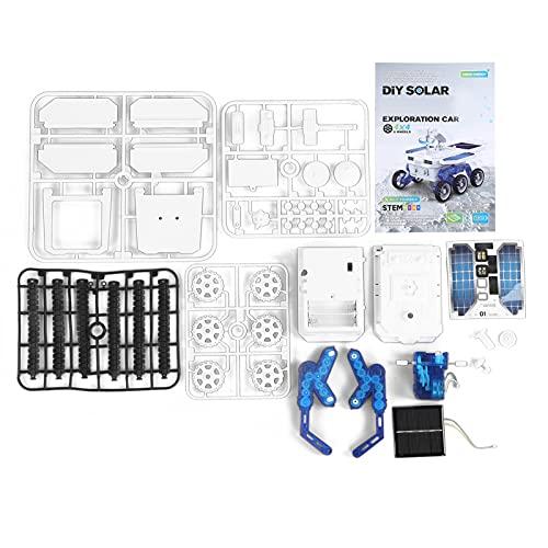 Yeelur Juguete para Coche con energía Solar, Modelo eléctrico con energía Solar para más de 6 años para niños((Self-Assembled Electric Model Car))