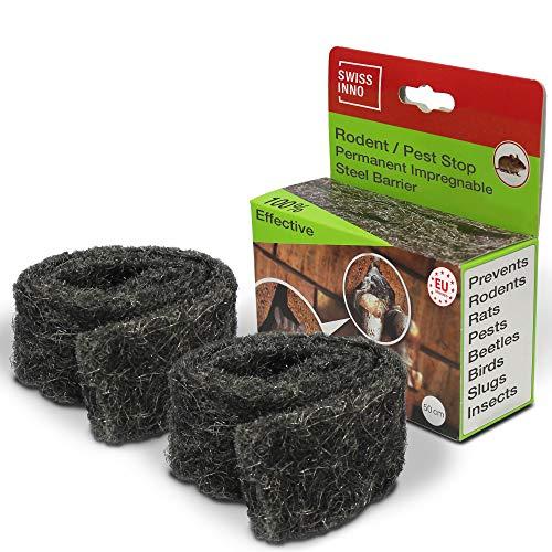 SWISSINNO Stahlwolle gegen Nagetiere, Parasiten und Insekten - Undurchdringliche Barriere gegen 100% Wirksam. x2
