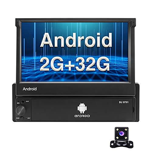 Android Autoradio 1 Din GPS 2G+32G CAMECHO 7 pollici Pieghevole Touchscreen capacitivo Bluetooth FM Radio WiFi Navigazione Mirror Link per telefono Android iOS + Telecamera posteriore