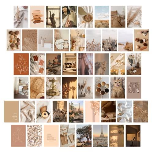Shywall Kit de collage de pared, decoración de habitación, carteles pequeños de moda, imágenes estéticas de pared, tarjetas, colección de fotos para dormitorio, dormitorio, sala de estar, 50 piezas