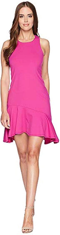 Susana Monaco Womens Racerback Dress Punch Pink Small, Large