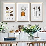 wangpdp Nordic Kuchen Gebäck Keks Messer Dekorative Wandbilder Leinwand Malerei Poster Home Decoration für Wohnzimmer Kein Gestaltet