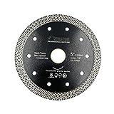 SHDIATOOL Disco Tronzador de Diamante 125MM con Malla Turbo Hoja de Sierra para Porcelana Azulejos Cerámica Granito Mármol