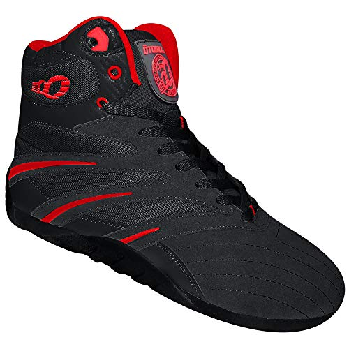 Otomix Men's Extreme Trainer Pro Weightlifting Bodybuilding Shoes (7, Black/Red/Carbon)