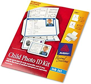 AVE4381 Laser/Ink Jet Child Protection Information, Child Safety Photo ID Kit