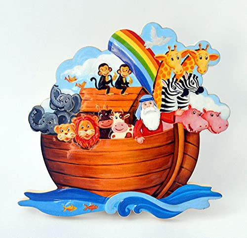 """Beeldbord """"Ark Noah"""" ca. 10 x 11 cm om op te hangen + neer te zetten"""