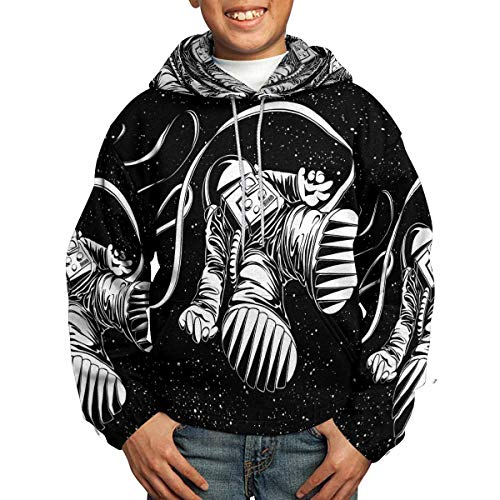 INTERESTPRINT Lost Astronaut Youth Hoodies Sweatshirt Pullover S