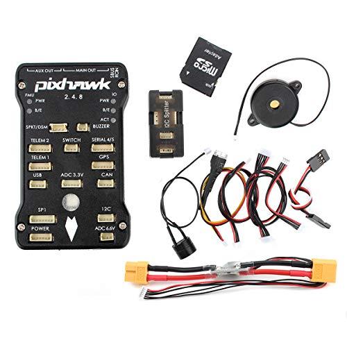 Pixhawk PX4 Flight Controller Autopilot PIX 2.4.8 32 Bit Flight Control Board+Safety Switch+Buzzer+I2C Splitter Expand Module+16GB SD Card …