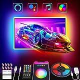 Nobent Tiras LED TV 3M Inteligente Luz Led Para 32-55in HDTV/PC USB RGB Luces LED Con Mando a Distancia APP Control Modos Música y Escena Compatible Con Alexa y Google Home