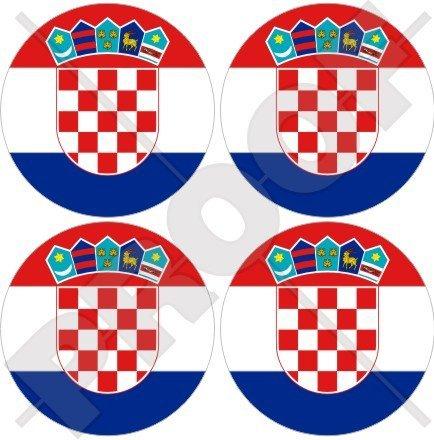 croatie croate HRVATSKA 50 mm (5,1 cm) bumper-helmet en vinyle autocollants, Stickers x4