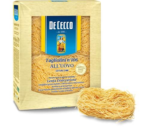 De Cecco- Tagliolini n° 106 Pasta all'uovo - 100 % italiano - 250 grammi
