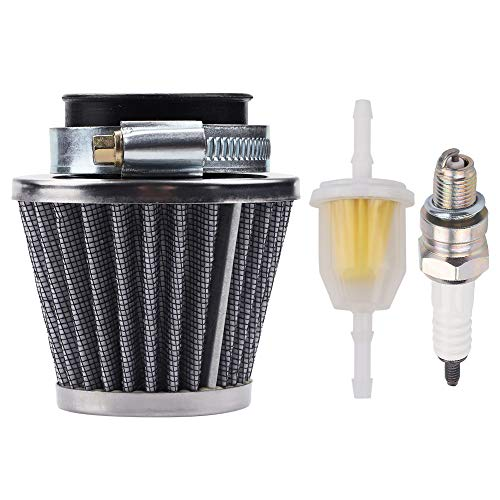 Dxent 38mm Air Filter Compatible with Chinese GY6 50c 139QMB Motorcycle Scooter Moped 50cc 110cc 125cc SDG SSR Dirt Pit Bike with Fuel Filter Spark Plug