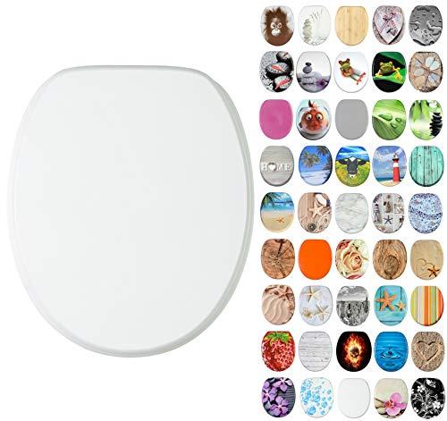 WC Sitz, viele schöne WC Sitze zur Auswahl, hochwertige und stabile Qualität aus Holz (Weiß)