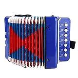 Taidda- Acordeón de Piano, 7 Teclas, 2 Bajos, Mini acordeón pequeño, Instrumento Musical Educativo, Juguete de Ritmo, Instrumento para niños para el Desarrollo de la Primer