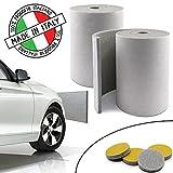 SLIMLEY Paracolpi garage 2 Lastre lunghe 2 m ciascuna Extra spesse (8mm) per una maggiore protezione dell'auto, 4 gommini multiuso inclusi, Fasce di protezione autoadesive per portiere e paraurti auto