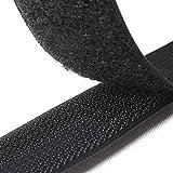 Tomedeks 25m Nähband Klettband, 20mm breit, zum Nähen von Kleidung, Garnveredelung, Bindung