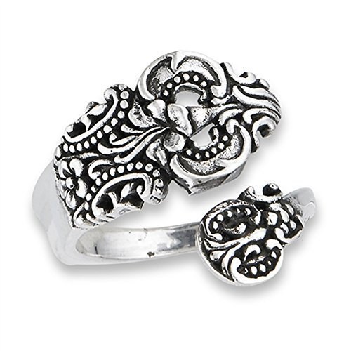Open Adjustable Celtic Spoon Vintage Ring Sterling Silver Thumb Band Size 10