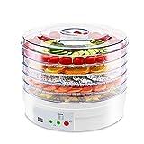 HUBi Deshydrateur numérique déshydrateur Machine avec Affichage LED minuterie Professionnelle Sèche de légumes Aliments - 5 Amovible Plateaux sans BPA