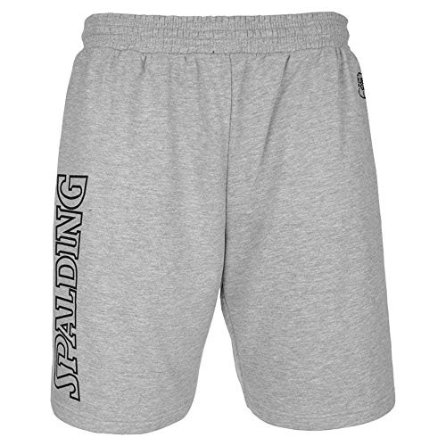 Spalding - Team II - Short Basketball - Homme - Gris Chiné - FR : 3XL (Taille Fabricant : 3XL)
