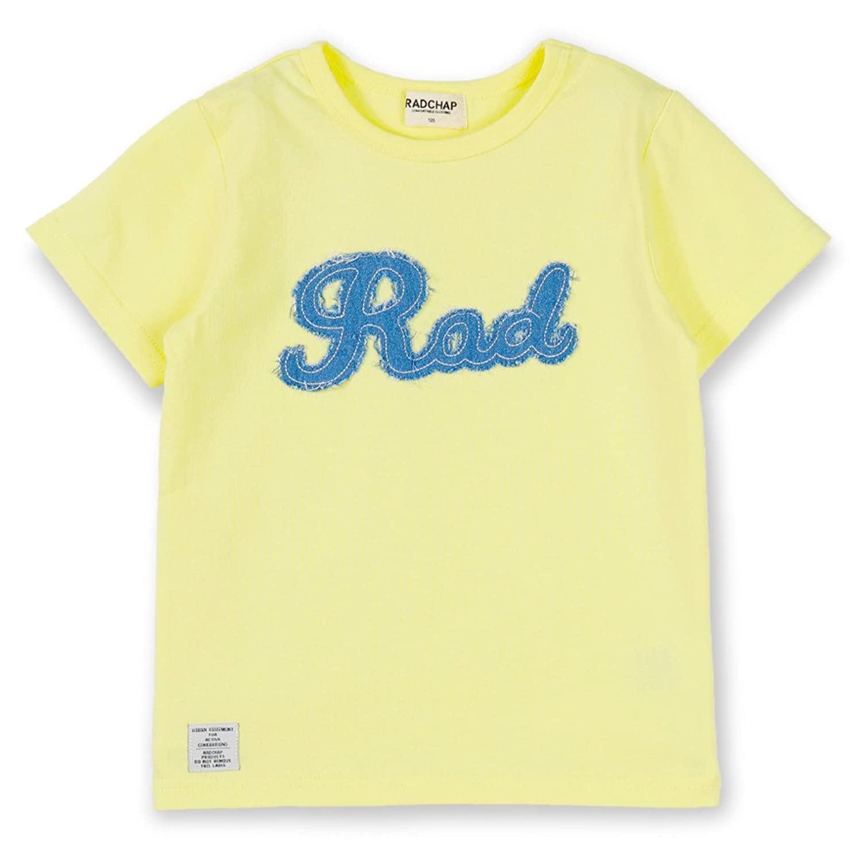 (ラッドチャップ) RADCHAP (TioTio加工) アップリケつき半袖Tシャツ