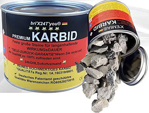 bri'X24T'you Karbid 0.500KG✔️24hDHLVersandMarken Premium KARBID(Ql.Rg.180601)*UNERREICHT in QUALITÄT & WIRKUNGsDauer*Feste große Steine mit Langzeitwirkung (0.500KG)