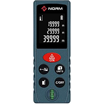 Laser Measure, Hattomen Laser Distance Meter 132 Feet, Portable Digital Measure Tool with Bubble Level, Backlit LCD Display (D100)