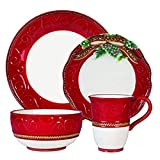 Fitz and Floyd Yuletide Holiday Dinnerware Set, Standard, Multicolored