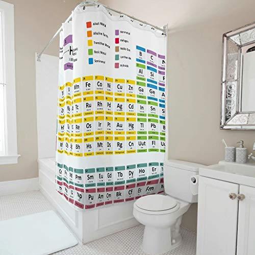 Charzee periodiek systeem patroon douchegordijnen wasbaar gordijn badkuipgordijn 100% polyester 150x200cm
