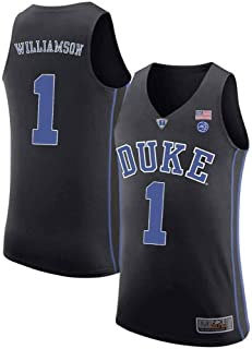 6219473160c MitChell & Ness Duke Blue Devils Zion Williamson 1# Stitched Men's College  Basketball Jersey