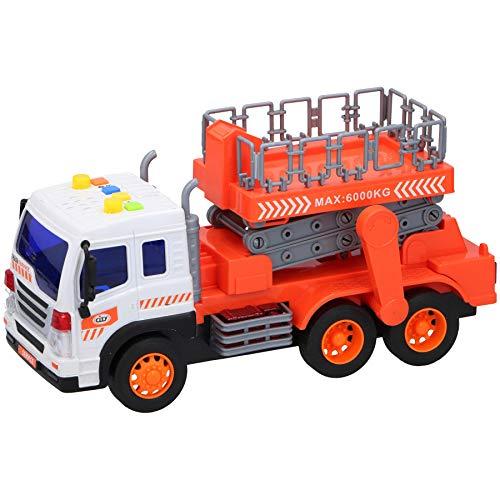 Warenhandel König Kinder Spielzeug Auto Maßstab 1:16 LKW Arbeitsbühne Hebebühne Baustellenfahrzeug mit Licht und Ton