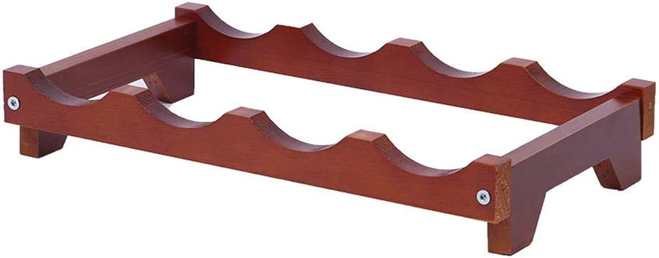 AERVEAL Wine Rack Super special price Solid Wood Restaurant Long Beach Mall Home Shelf Cab