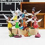 7pcs/Lot Tinkerbell Figure Toys Princess Tinker Bell Fairy Model Dolls Gift for Children