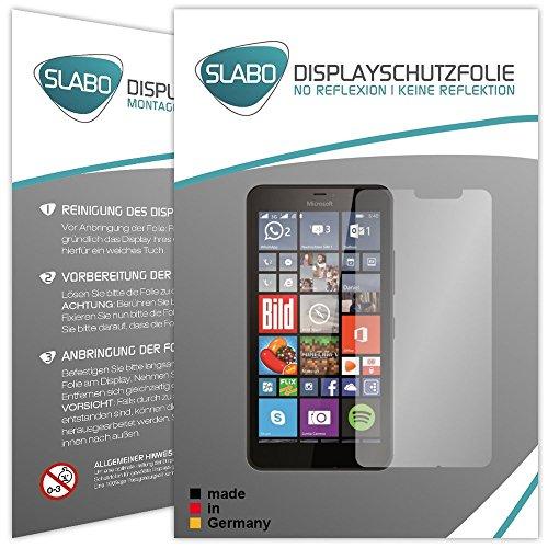 Slabo 2 x Displayfolie für Microsoft Lumia 640 XL LTE Displayschutzfolie Zubehör No Reflexion MATT