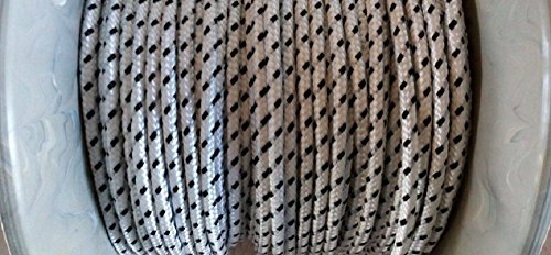 Rolladenschnur 20 m Nylonschnur weiss- schwarz 4,5mm Schnurzug Schnurwickler