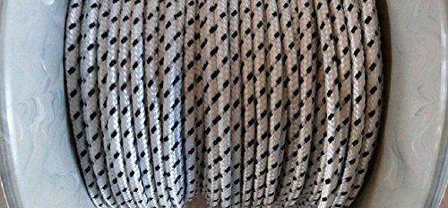 Rolluiksnoer 5m nylon snoer wit- zwart 4,5mm snoer snoer snoerwikkelaar