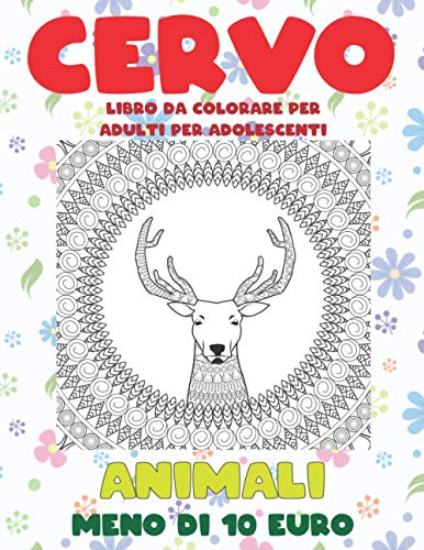 Libro da colorare per adulti per adolescenti - Meno di 10 euro - Animali - Cervo