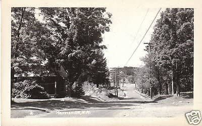 D3779 NH New mail order Harrisville Road Max 85% OFF Photo Scene Postcard