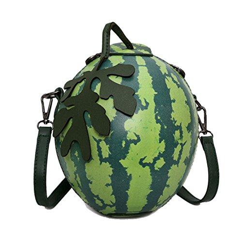 MILATA Watermelon Shaped Women's Crossbody Bag Shoulder Bag PU Leather Clutch Bag Purse, Beige, Small
