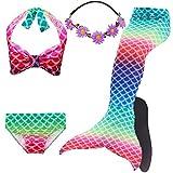COZY HUT Mädchen Cosplay Kostüm Badebekleidung Meerjungfrau Schwanz Badeanzug 5pcs Bikini Sets...