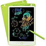 SCRIMEMO LCD Schreibtafel 10 Zoll Bunte hellere Schrift mit Anti-Clearance Funktion und Dicke Linien Stift papierlos für Schreiben Malen Notizen Super als Geschenke (Grün) -