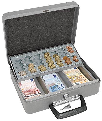 Wedo 149658012 - Caja de caudales con portamonedas, 300 x 240 x 90 mm,...