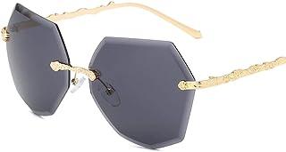 Kerwinner 男性用サングラスレディースRetro Polygon Squareサングラス偏光サングラス (Color : D)