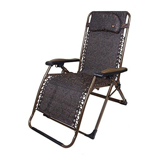 Xiaolin Chaise de Sieste Bureau Été Chaud Chaise Chauve Chaise Femme Balcon Chaise Portable (Couleur : 02)