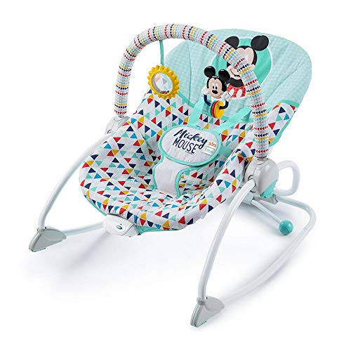 Bright Starts, Disney Baby Hamaca mecedora Mickey Happy Tiangles