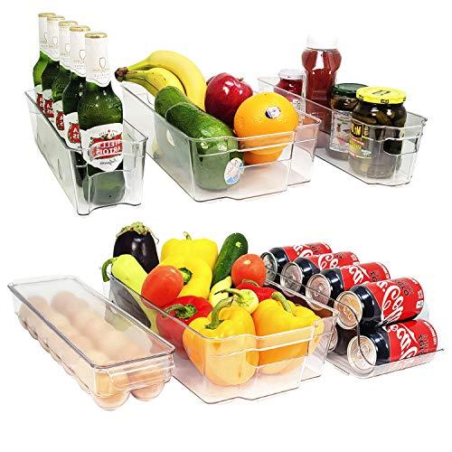 6 cubos organizadores para refrigerador, congelador, cajón y despensa, sin BPA