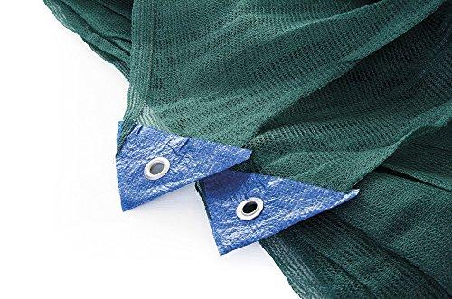 VERDELOOK Tessuto monofilo in polietilene per la Raccolta delle Olive, antispina 6x12 m, Verde