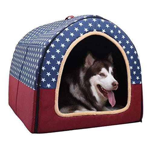 BANANAJOY Haustiere Betten, Outdoor-Haustier-Zelt kleine, mittlere und große Hunde Plus Velvet Kennel Winter warm...