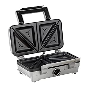 Cuisinart 2-in-1 Sandwich & Waffle Maker | Non-Stick Removable Plates | Stainless Steel | GRSM1WU